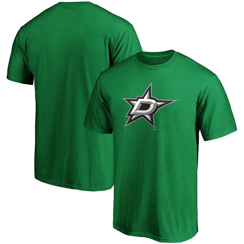 Men's Fanatics Branded Kelly Green Dallas Stars Team Primary Logo T-Shirt, Size: 2XL