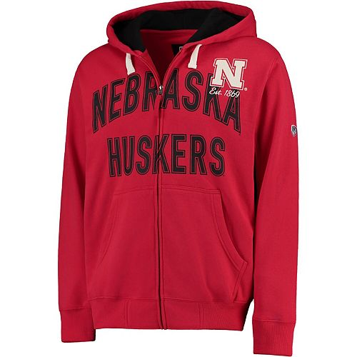Men's Hands High Scarlet Nebraska Cornhuskers Playoff Full-Zip Hoodie