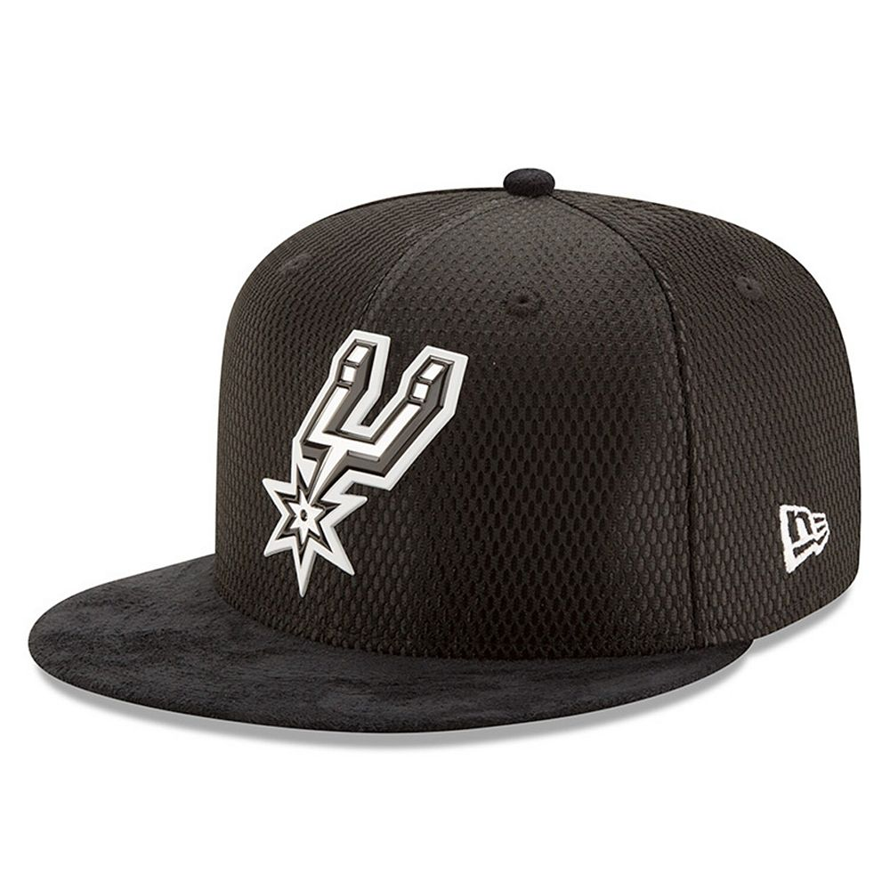Men's New Era Black San Antonio Spurs 2017 NBA Draft Official On Court Collection 59FIFTY Fitted Hat