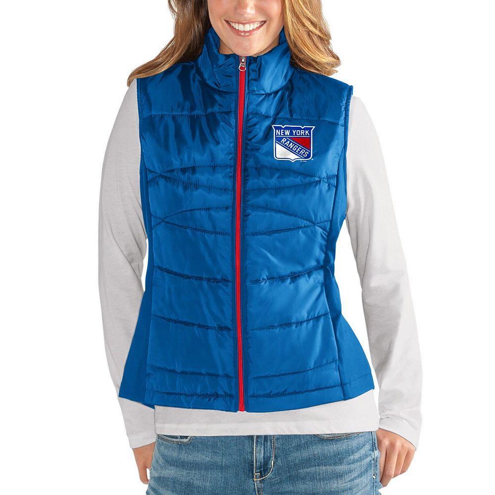 Women's G-III 4Her by Carl Banks Blue New York Rangers Wing Back Full-Zip Vest
