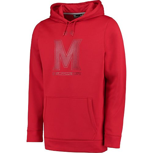 Men's Under Armour Red Maryland Terrapins Ops Special Game Fleece Performance Pullover Hoodie