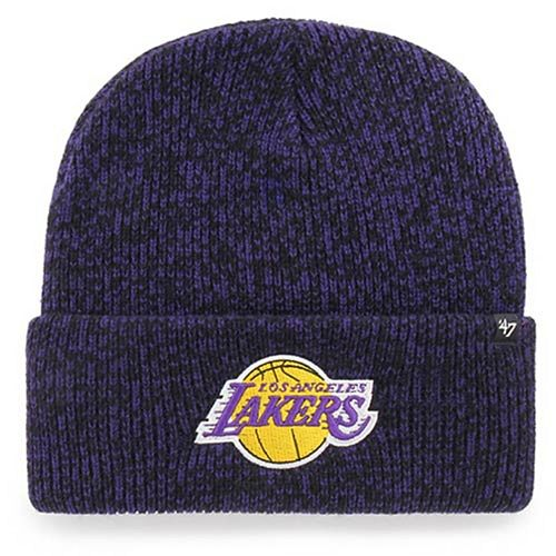 Men's '47 Purple Los Angeles Lakers Brain Freeze Cuffed Knit Hat