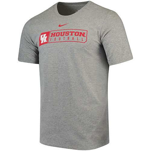 Men's Nike Heathered Gray Houston Cougars Sport Drop T-Shirt