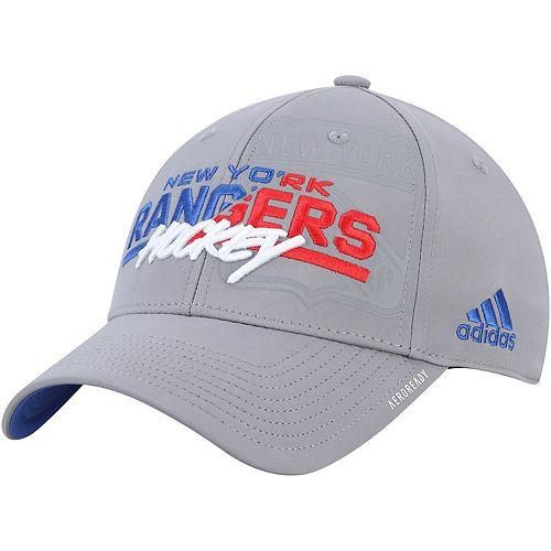Men's adidas Gray New York Rangers Fade to Fade Flex Hat