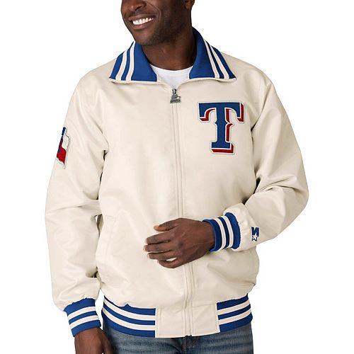 Men's Starter Cream Texas Rangers The Captain II Full-Zip Jacket