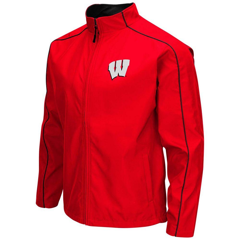 Men's Colosseum Red Wisconsin Badgers Big & Tall Carrier Full-Zip Jacket