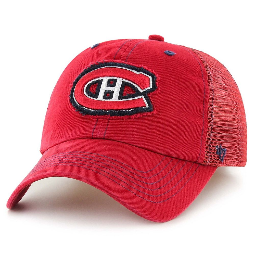 Men's '47 Brand Red Montreal Canadiens Flexbone Closer Flex Hat
