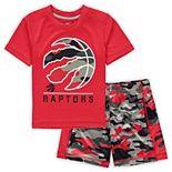 Toddler Red Toronto Raptors MVP T-Shirt & Shorts Set