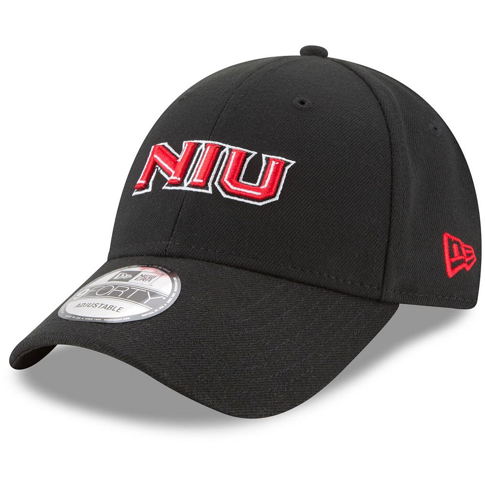 Men's New Era Black Northern Illinois Huskies The League 9FORTY Adjustable Hat