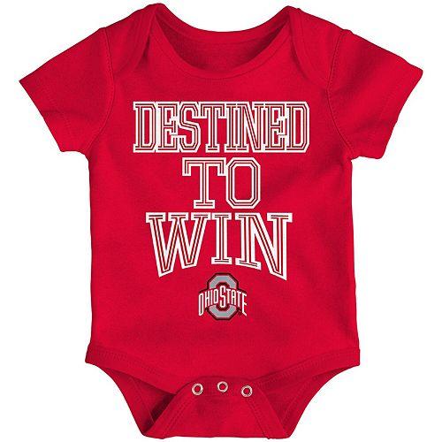 Newborn & Infant Scarlet Ohio State Buckeyes Destined Bodysuit