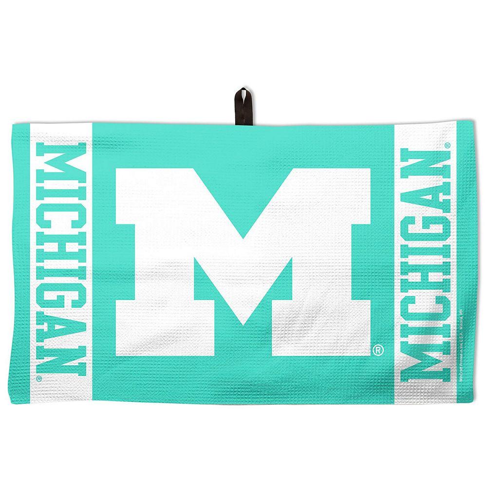 "WinCraft Green Michigan Wolverines 14"" x 24"" Pastel Waffle Golf Towel"