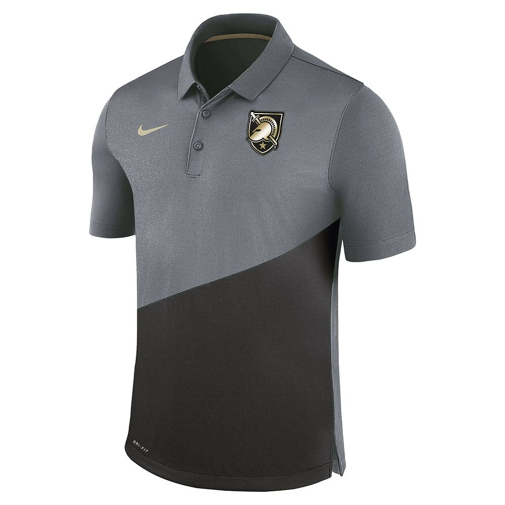 Men's Nike Anthracite Army Black Knights Stadium Performance Polo