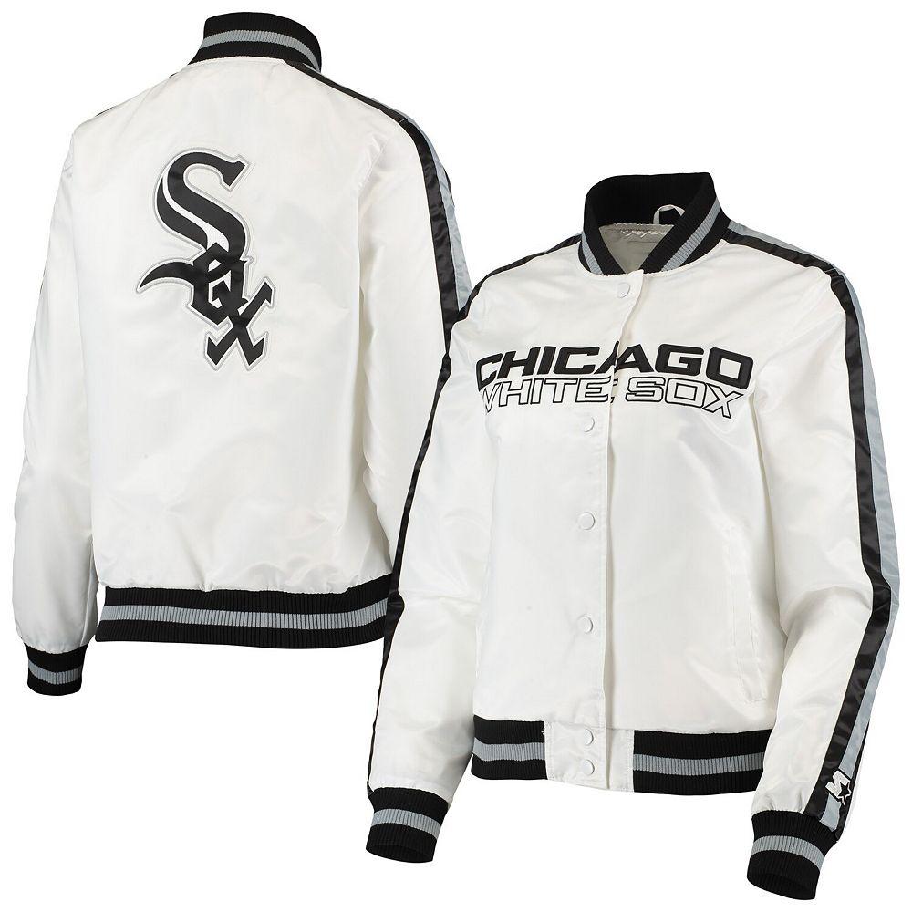 Women's Starter White/Black Chicago White Sox Hometown Full-Snap Jacket