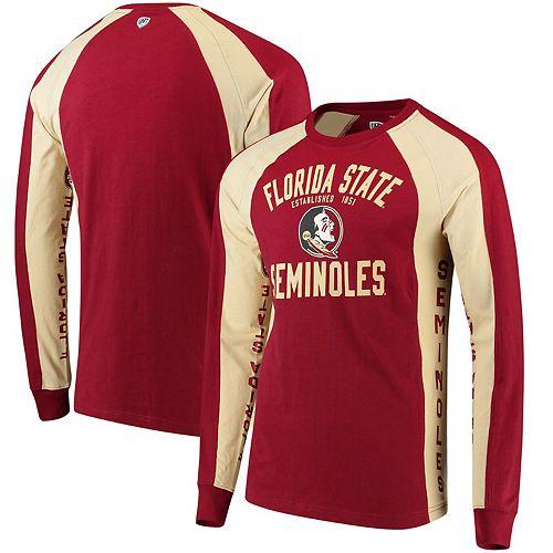 Men's Hands High Garnet/Gold Florida State Seminoles Play Action Long Sleeve T-Shirt