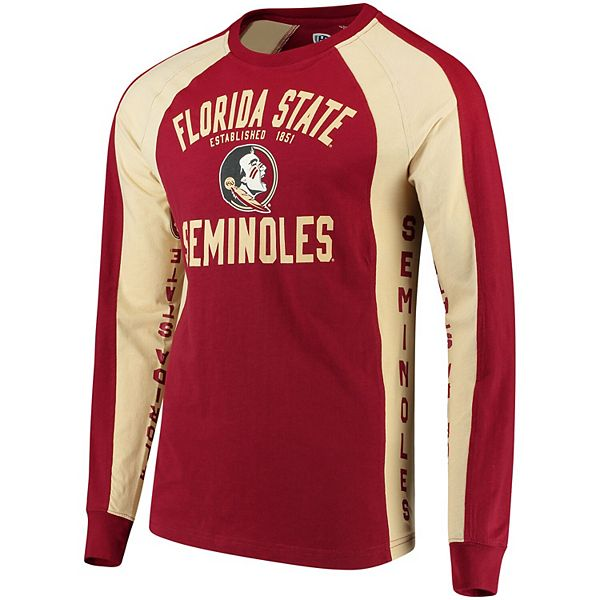 Men's Hands High Garnet/Gold Florida State Seminoles Play Action Long Sleeve T-Shirt