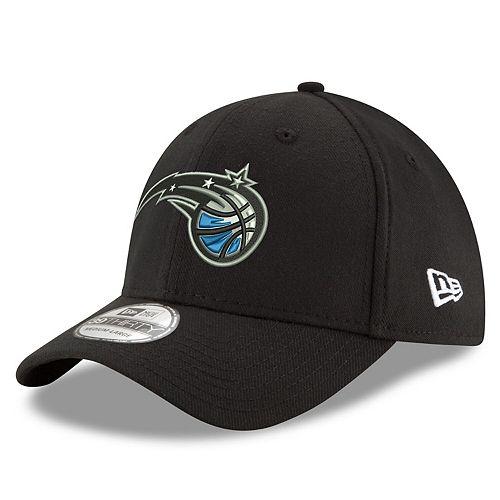 Men's New Era Black Orlando Magic Team Classic 39THIRTY Flex Hat
