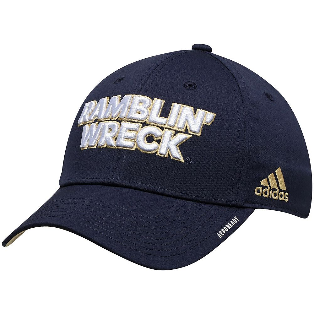 Men's adidas Navy Georgia Tech Yellow Jackets Team Mantra AEROREADY Flex Hat