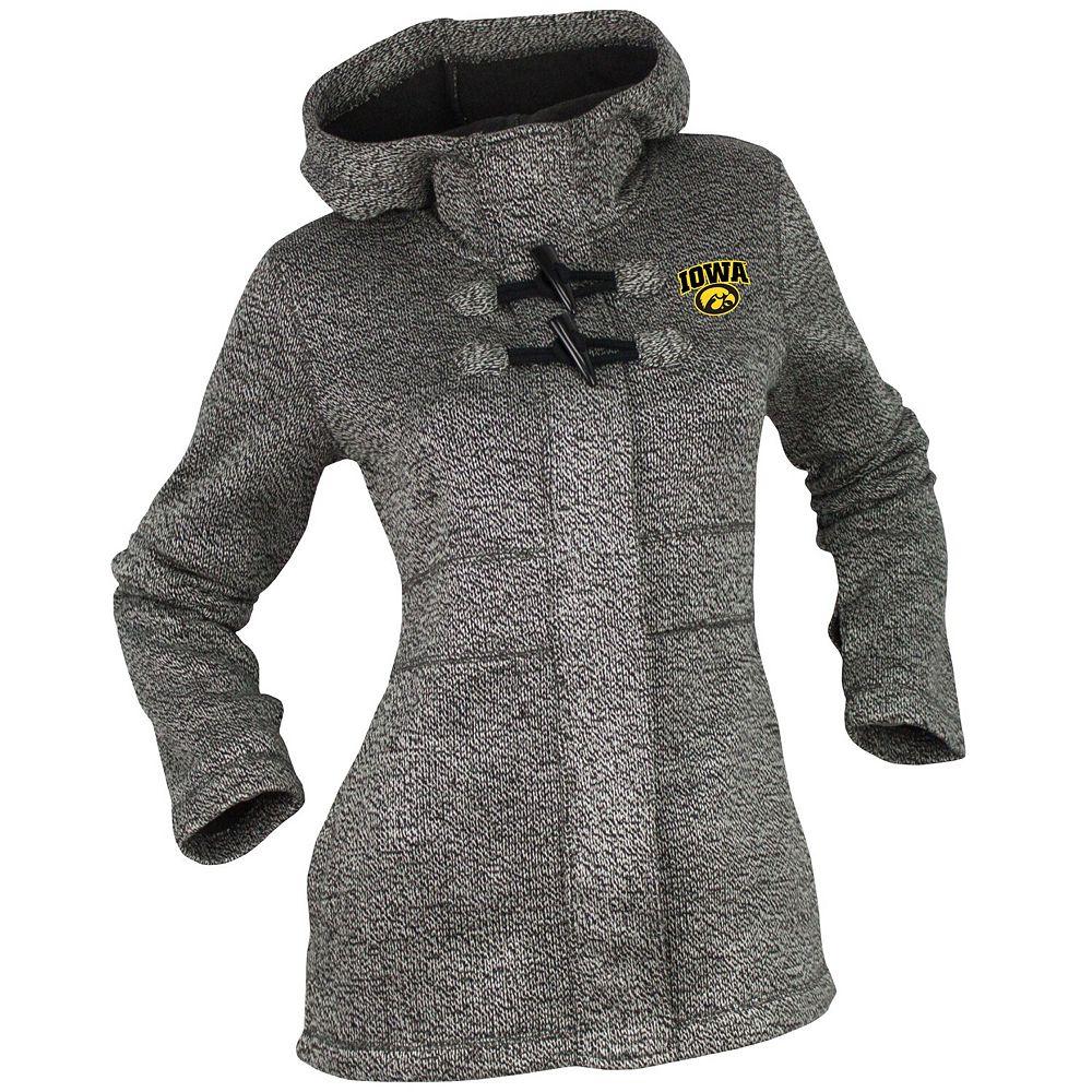 Women's Renu Gray Iowa Hawkeyes Bonded Toggle Full-Zip Jacket