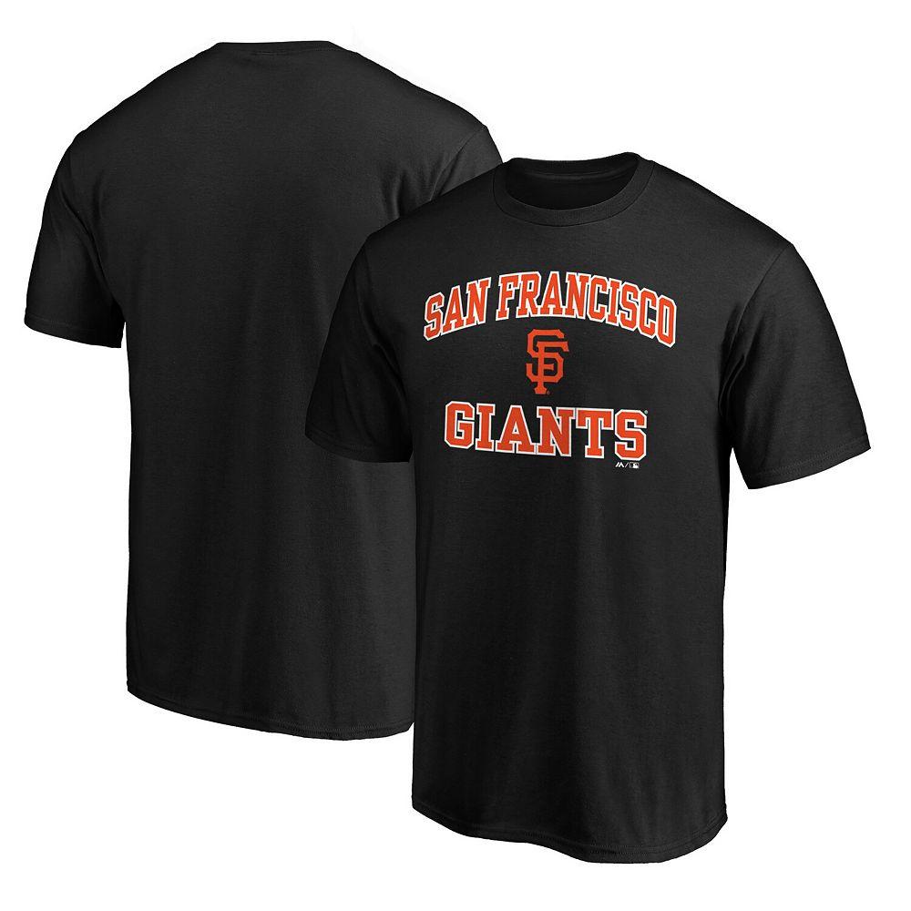 Men's Fanatics Branded Black San Francisco Giants Big & Tall Heart & Soul T-Shirt