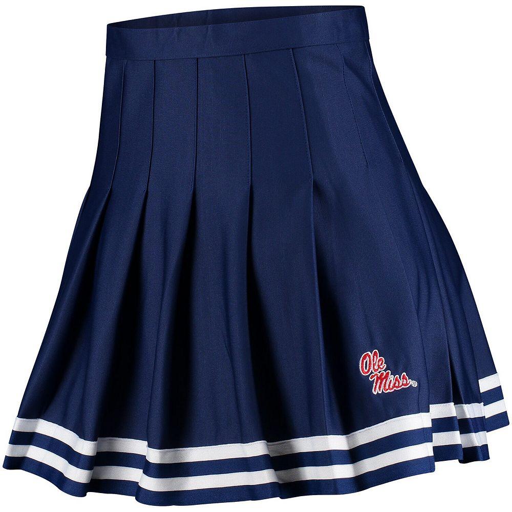 Women's ZooZatz Navy Ole Miss Rebels Rah Rah Cheer Skirt
