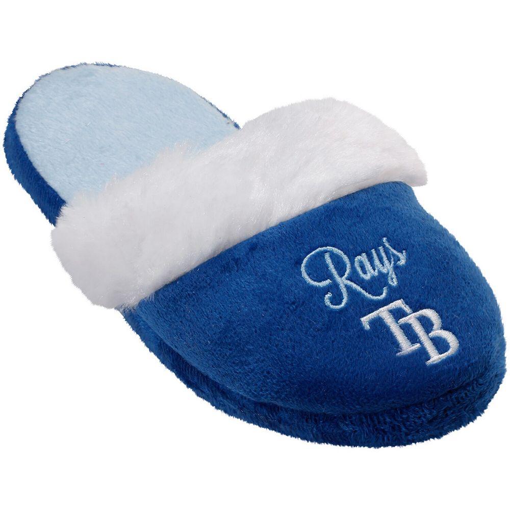Women's Tampa Bay Rays Colorblock Fur Slide Slippers