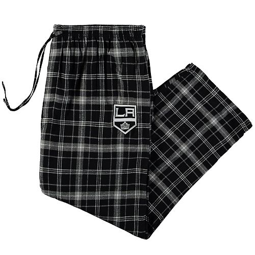 Men's Concepts Sport Black Los Angeles Kings Big & Tall Ultimate Flannel Pant