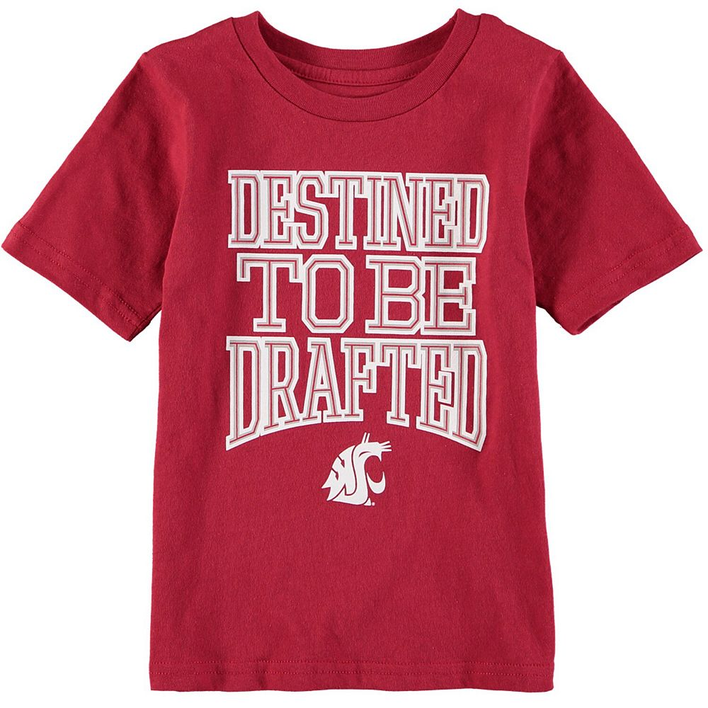 Preschool Crimson Washington State Cougars Destined Short Sleeve T-Shirt