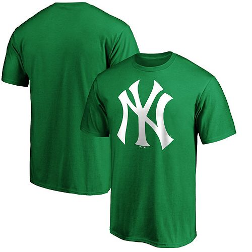 Men's Fanatics Branded Kelly Green New York Yankees St. Patrick's Day Logo T-Shirt