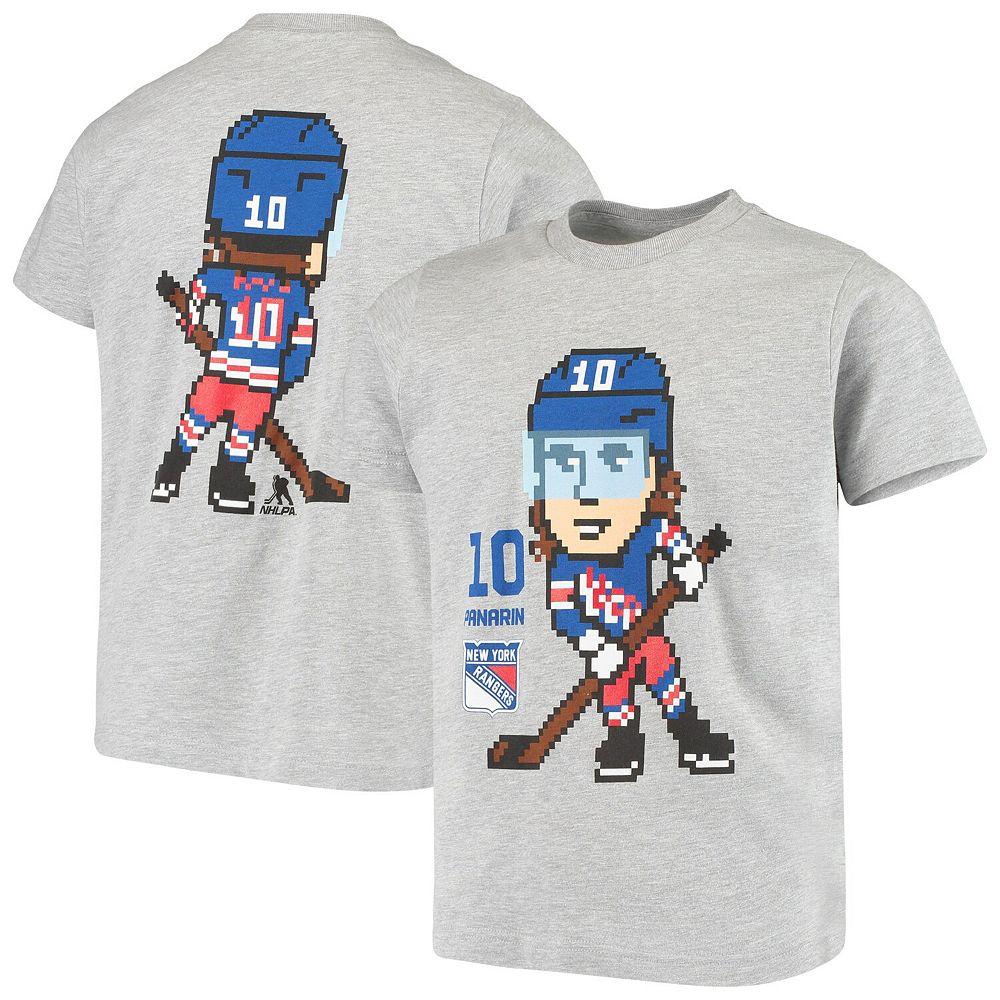 Youth Artemi Panarin Heathered Gray New York Rangers Pixel Player T-Shirt