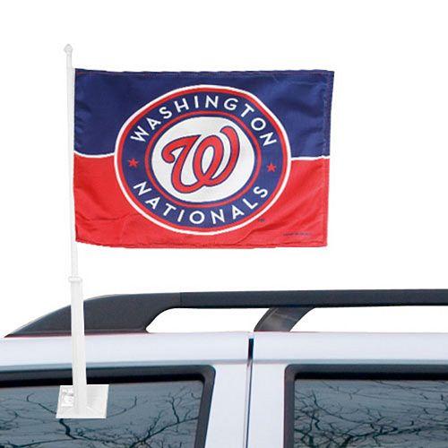Washington Nationals 11'' x 14'' Navy Blue-Red Logo Car Flag