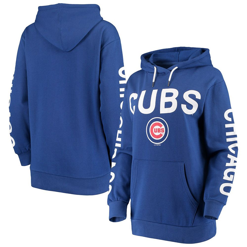 Women's G-III 4Her by Carl Banks Royal Chicago Cubs Extra Inning Colorblock Pullover Hoodie