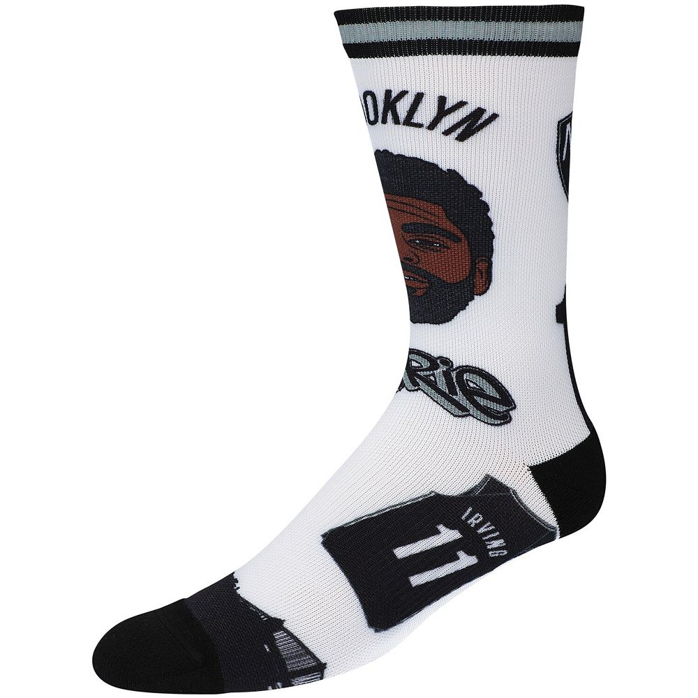 Men's Kyrie Irving Brooklyn Nets Player Pins Crew Socks