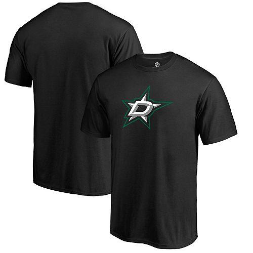 Men's Fanatics Branded Black Dallas Stars Primary Logo T-Shirt