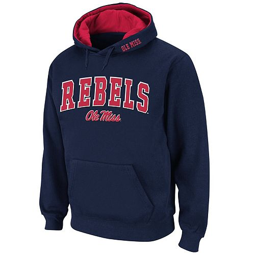 Men's Stadium Athletic Navy Ole Miss Rebels Arch & Logo Pullover Hoodie