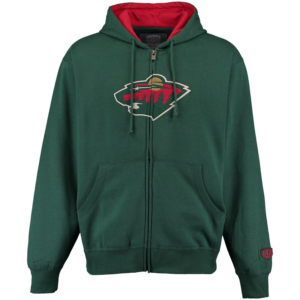 Men's Old Time Hockey Green Minnesota Wild Conway Full-Zip Hoodie