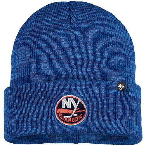 Men's '47 Royal New York Islanders Brain Freeze Cuffed Knit Hat