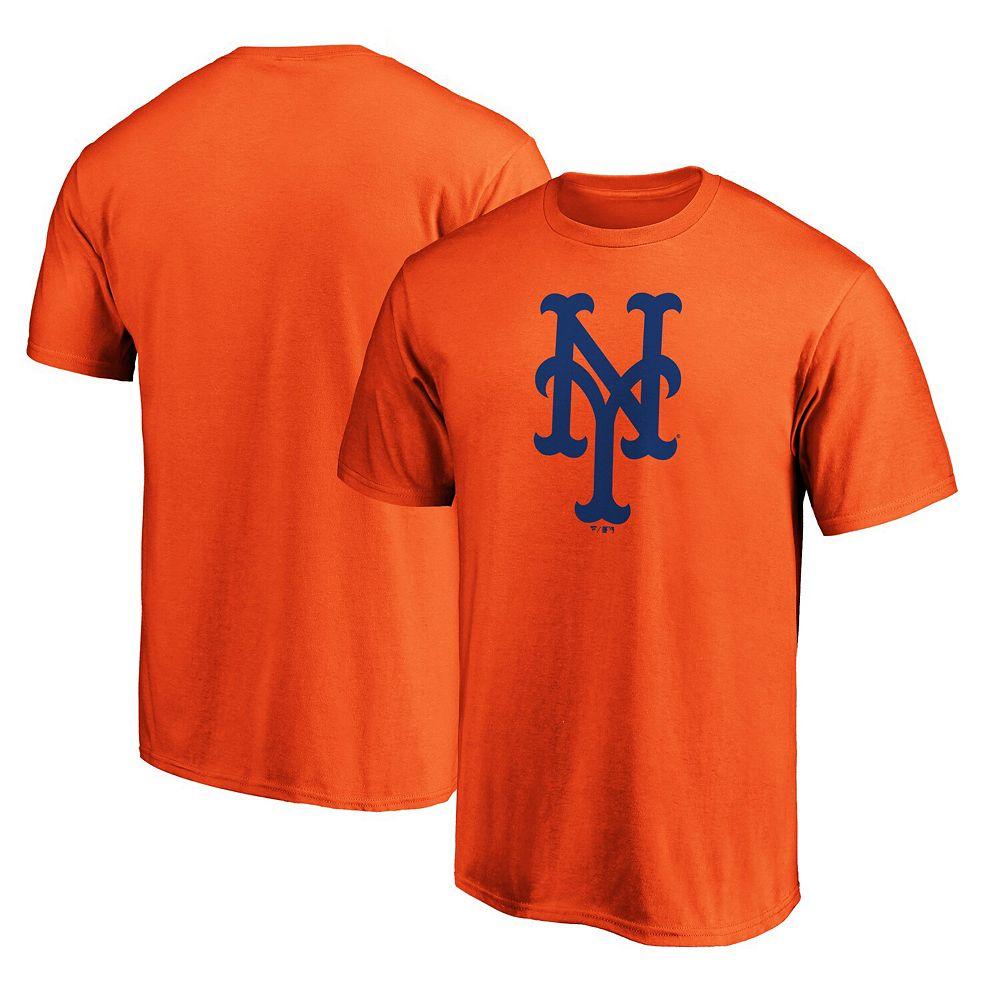 Men's Fanatics Branded Orange New York Mets Official Logo T-Shirt