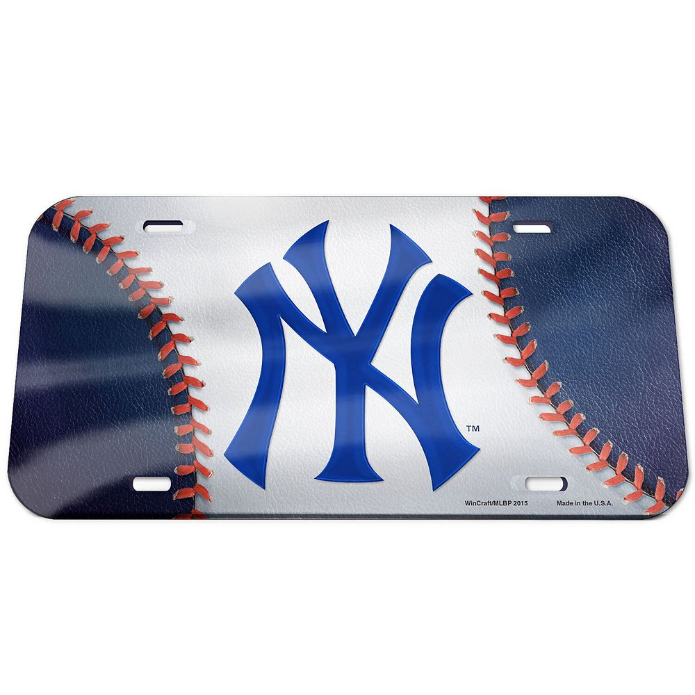 WinCraft New York Yankees Ball Crystal Mirror License Plate
