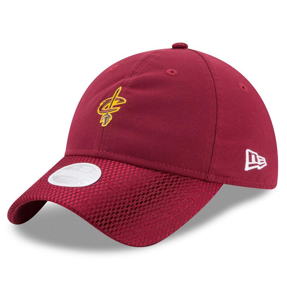 Women's New Era Wine Cleveland Cavaliers On-Court 9TWENTY Adjustable Hat