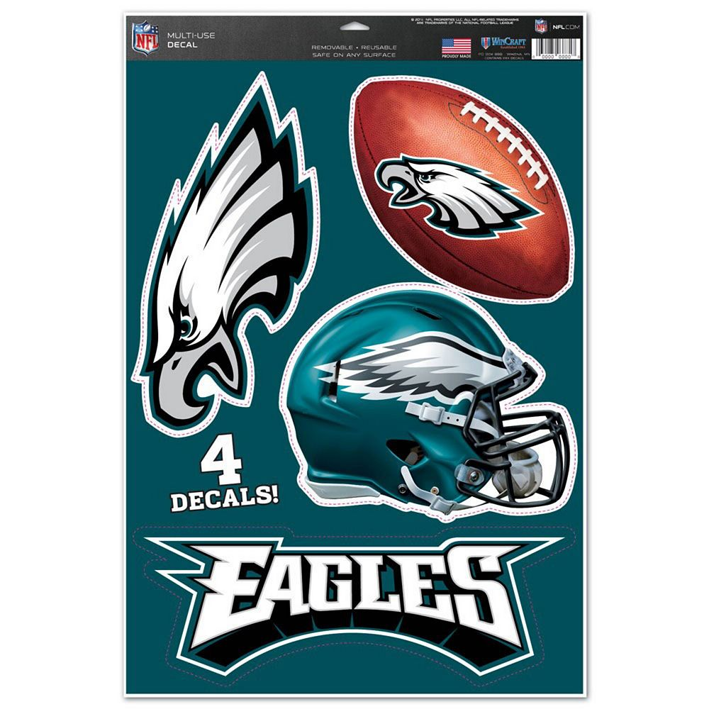 """WinCraft Philadelphia Eagles #1 Fan 11"""" x 17"""" Multi-Use Decal Sheet"""