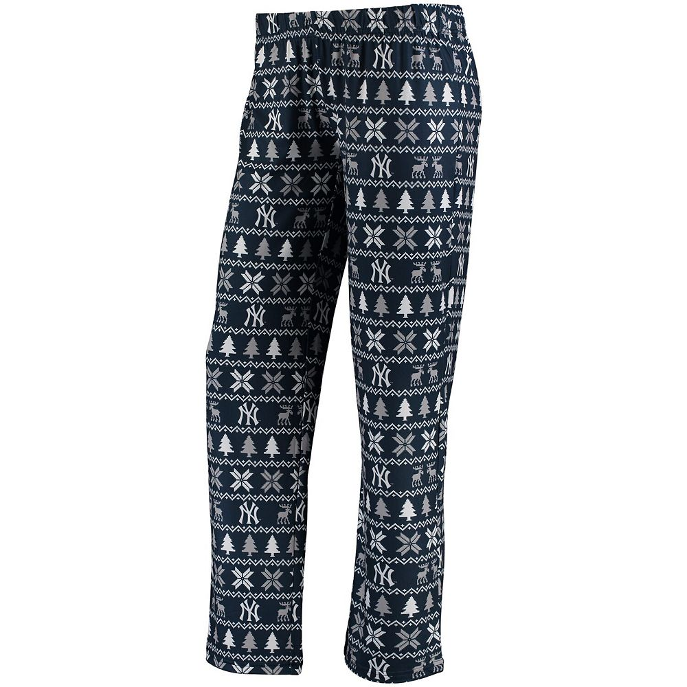 Women's Navy New York Yankees Holiday Print Pant