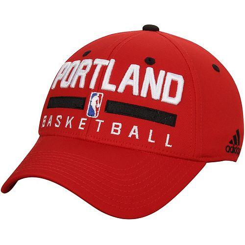 Men's adidas Red Portland Trail Blazers Practice Flex Hat