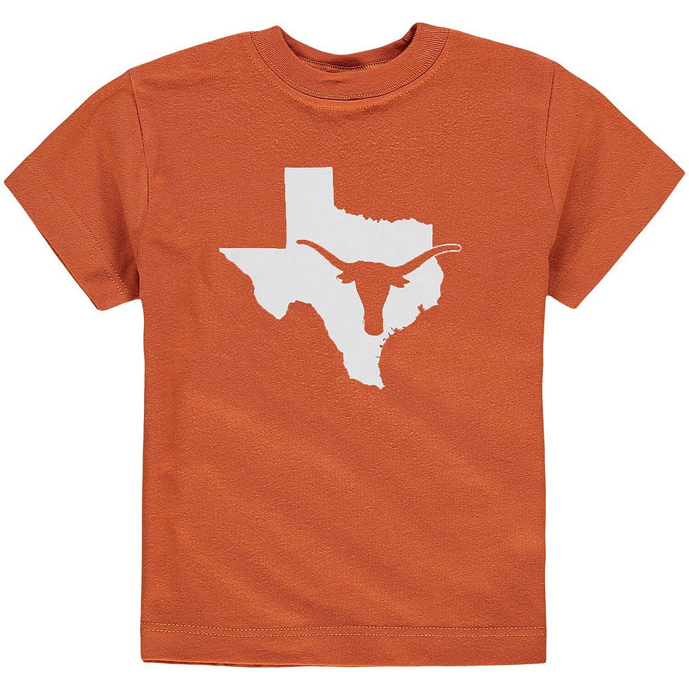 Youth Texas Orange Texas Longhorns State T-Shirt