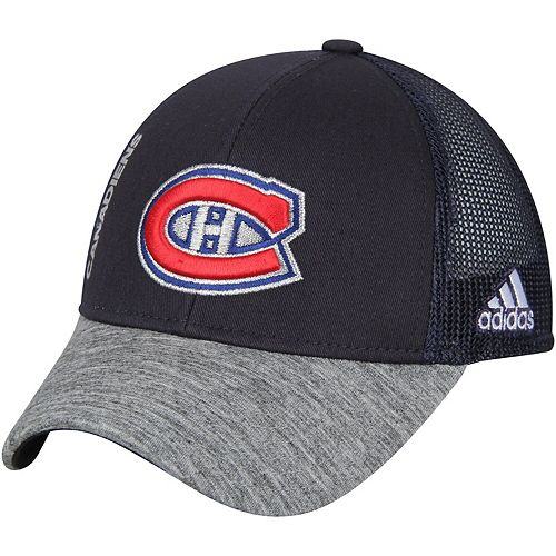 Youth adidas Navy/Heathered Gray Montreal Canadiens Start Of Season Meshback Adjustable Hat