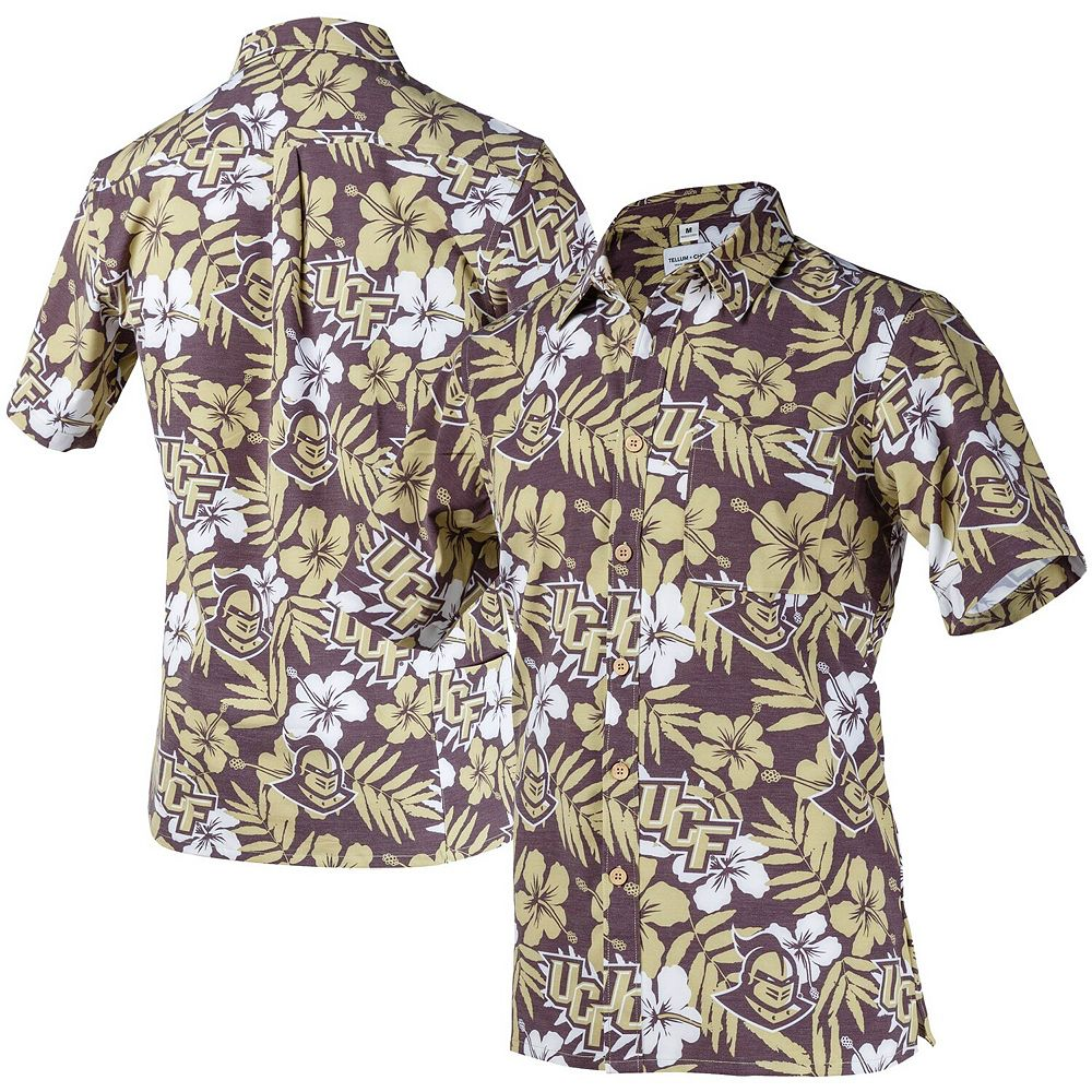Men's Tellum and Chop Black UCF Knights Floral Button-Up Shirt