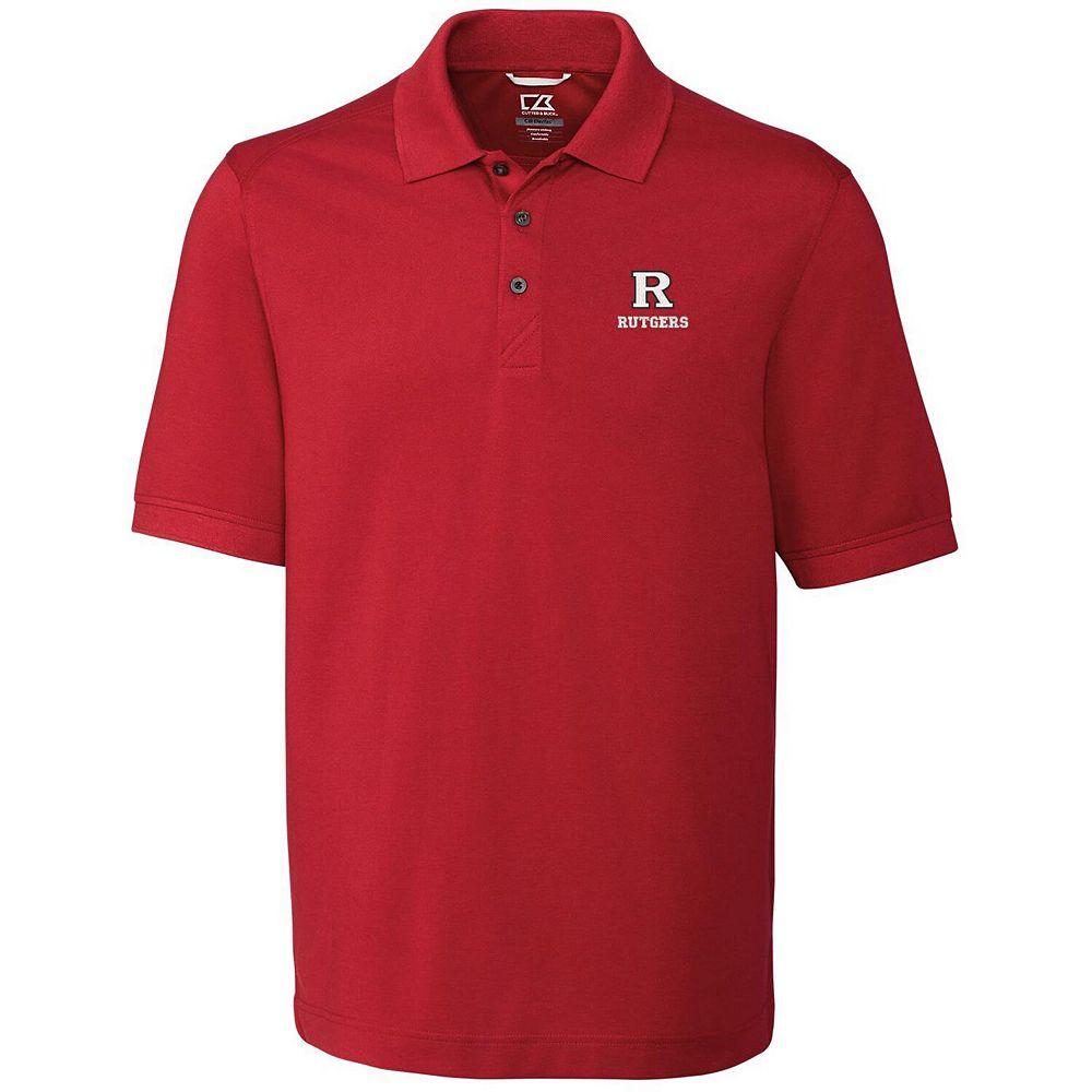 Men's Cutter & Buck Scarlet Rutgers Scarlet Knights Collegiate Advantage DryTec Polo