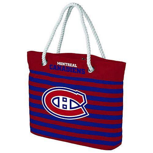 Women's Montreal Canadiens Nautical Stripe Tote Bag