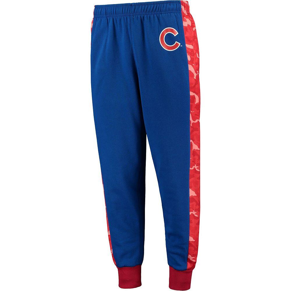 Men's Royal Chicago Cubs Printed Poly Insert Jogger Pants