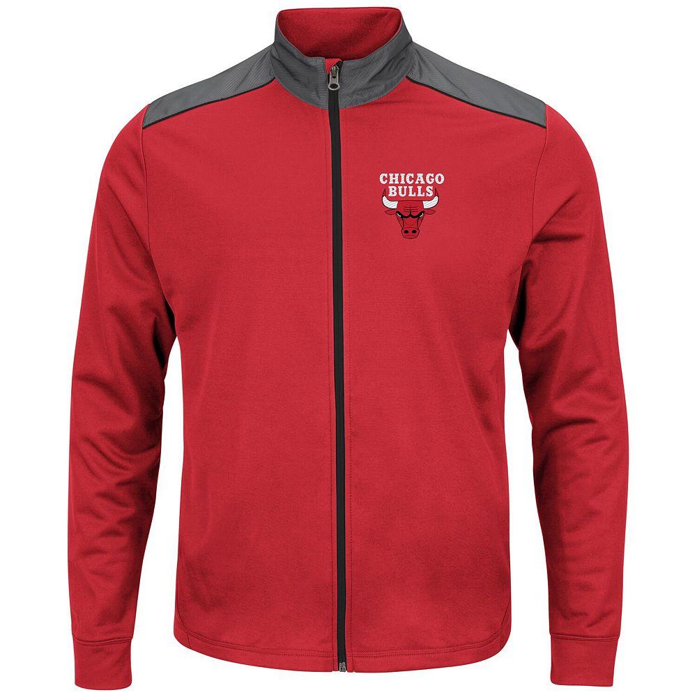 Men's Majestic Red Chicago Bulls Fast or Last Full-Zip Jacket