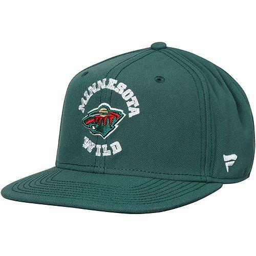 Youth Fanatics Branded Green Minnesota Wild Iconic Emblem Adjustable Snapback Hat